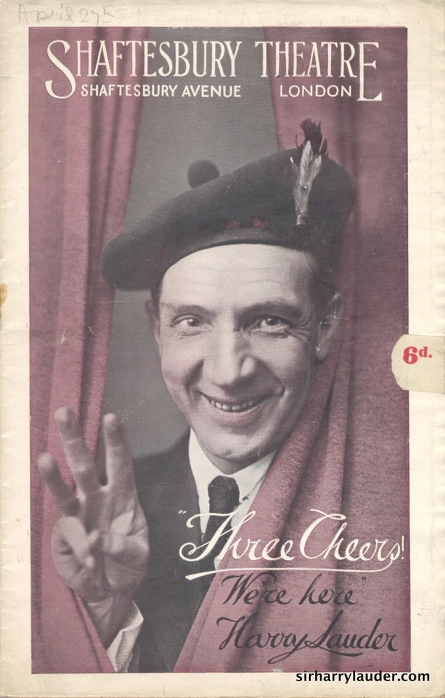 Shaftesbury Theatre London Three Cheers Programme Booklet No 2 1916-17 -1