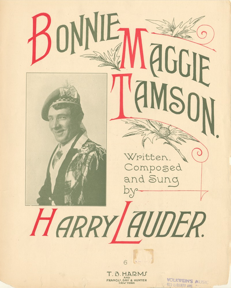 Sheet Music Bonnie Maggie Tamson TB Harms & Francis Day & Hunter NY 1915