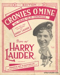 Sheet Music Cronies O Mine Francis Day & Hunter London** 1929