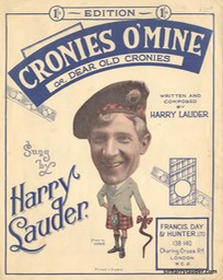 Sheet Music Cronies O Mine Francis Day & Hunter London 1929