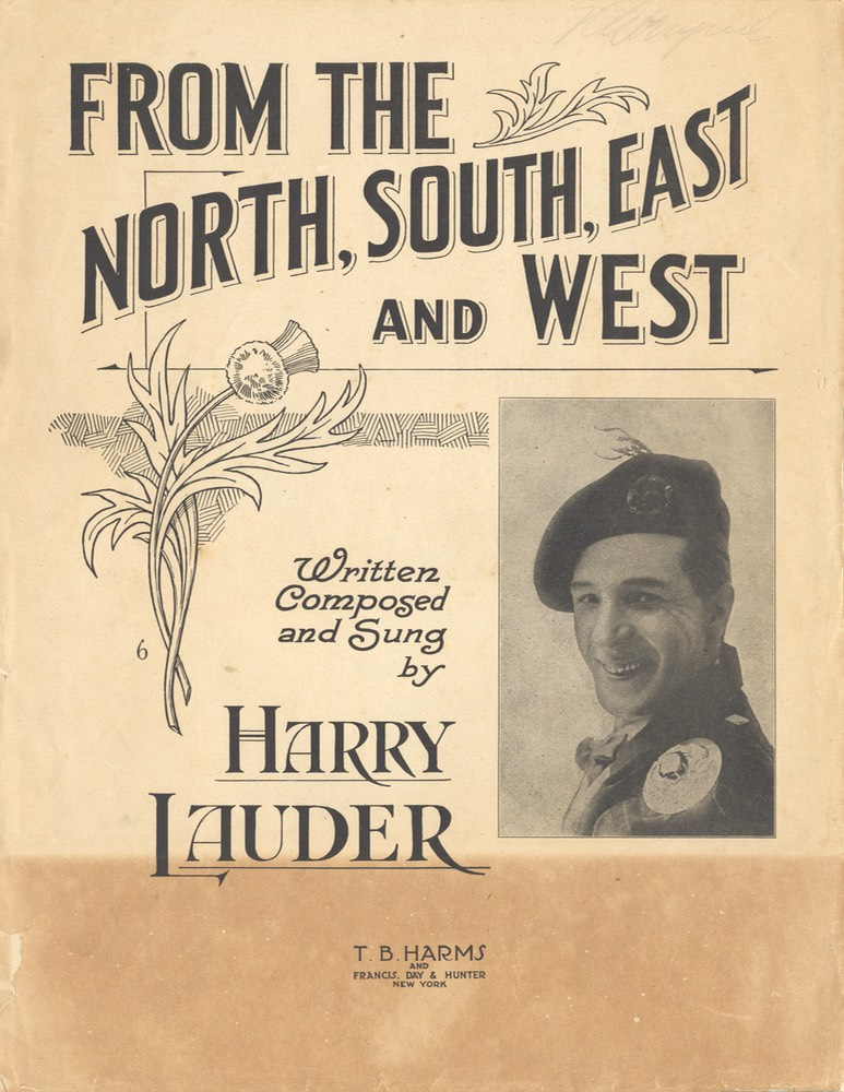 Sheet Music From the North South East Or West TB Harms & Francis Day & Hunter NY 1918
