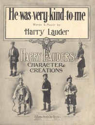 Sheet Music He Was Very Kind To Me TB Harms & Francis Day & Hunter NY Undated