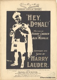 Sheet Music Hey Donal Francis Day & Hunter London** 1903