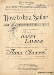Sheet Music I Love To Be A Sailor Francis Day & Hunter London 1906
