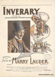 Sheet Music Inverary Francis Day & Hunter London*** 1905