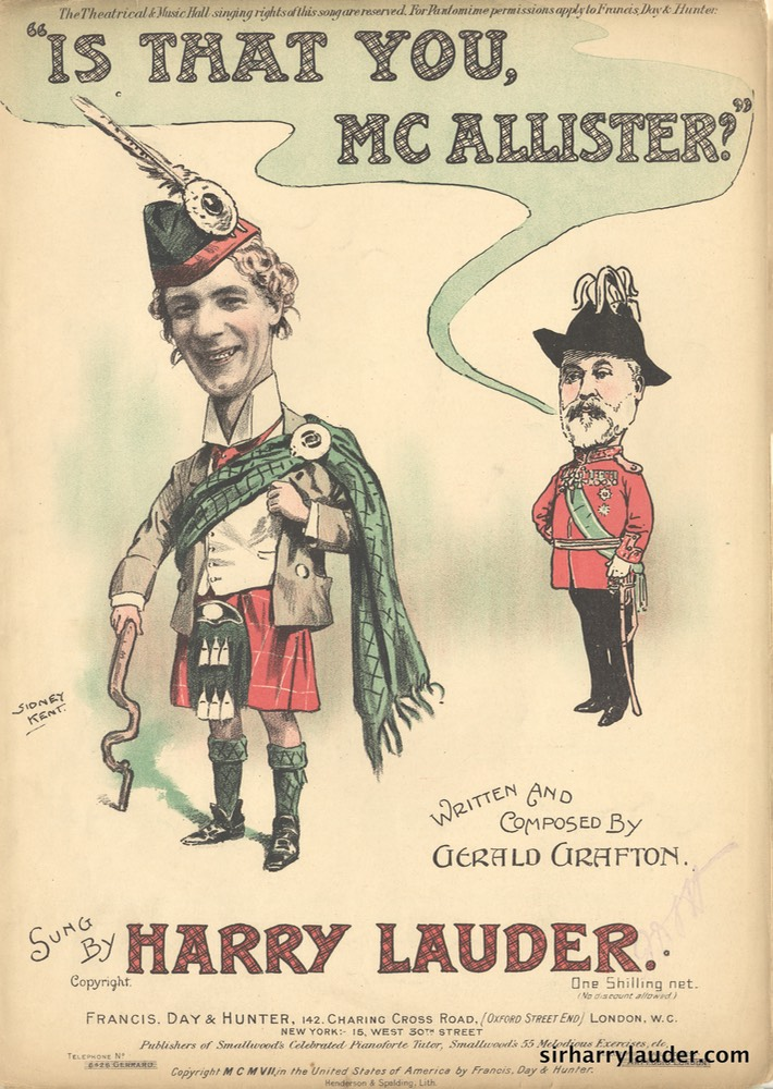 Sheet Music Is That You Mc Callister Francis Day & Hunter London 1907