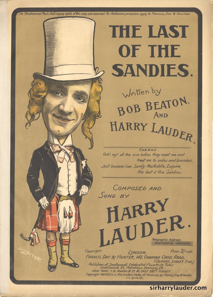 Sheet Music Last Of The Sandies Francis Day & Hunter London 1902