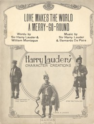 Sheet Music Love Makes The World A Merry Go Round TB Harms & Francis Day & Hunter NY 1923