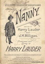 Sheet Music Nanny Francis Day & Hunter London 1915