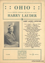 Sheet Music Ohio Francis Day & Hunter London 1921