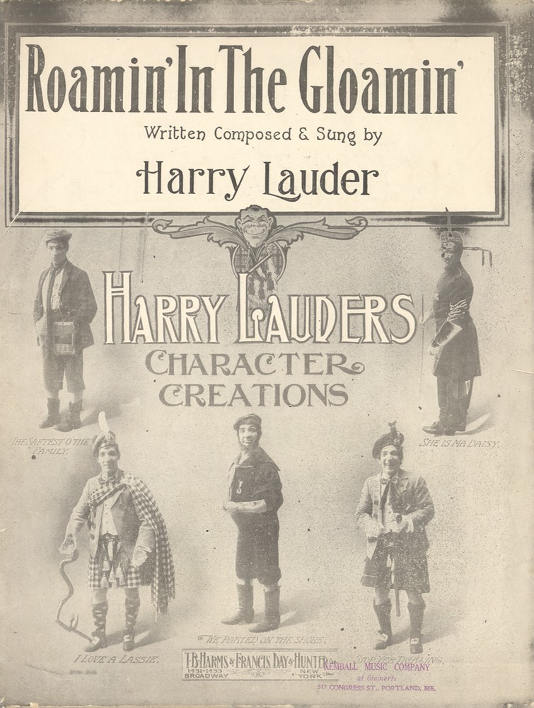 Sheet Music Roamin In The Gloamin TB Harms & Francis Day & Hunter NY Undated