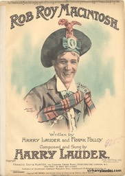 Sheet Music Rob Roy Macintosh Francis Day & Hunter London 1907
