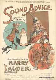 Sheet Music Sound Advice Francis Day & Hunter London 1905