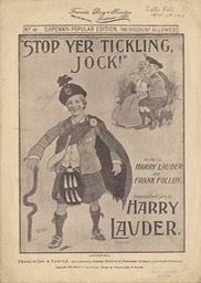 Sheet Music Stop Yer Tickling Jock Francis Day Hunter London 1904