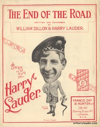 Sheet Music The End Of The Road Francis Day & Hunter London** 1924
