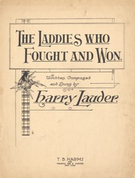 Sheet Music The Laddies Who Fought And Won TB Harms & Francis Day & Hunter NY** 1916