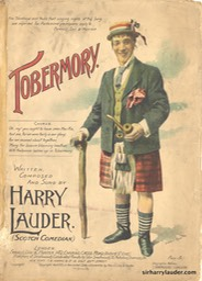 Sheet Music Tobermory Francis Day & Hunter London 1901