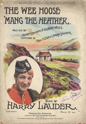 Sheet Music Wee Hoose Mang The Heather Francis Day & Hunter London 1912