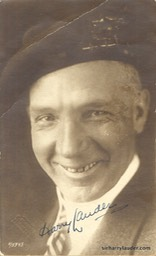 Signed Photo Dated 1924 on Verso By Lauder With Note