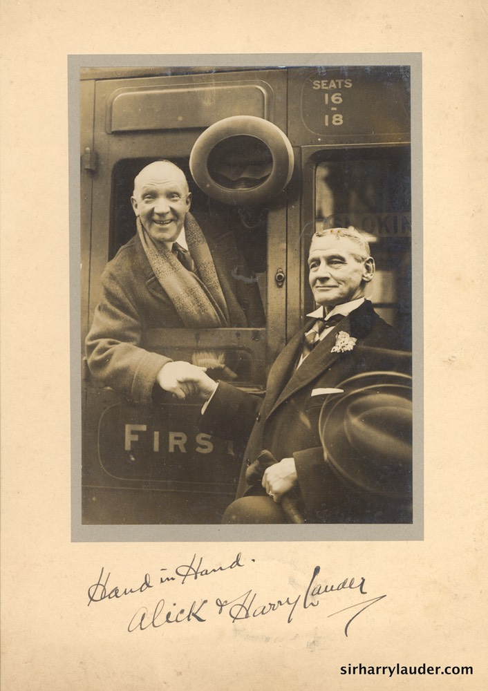 Sir Harry & Alick Inglis Mounted Photo Inscribed Dated 1931