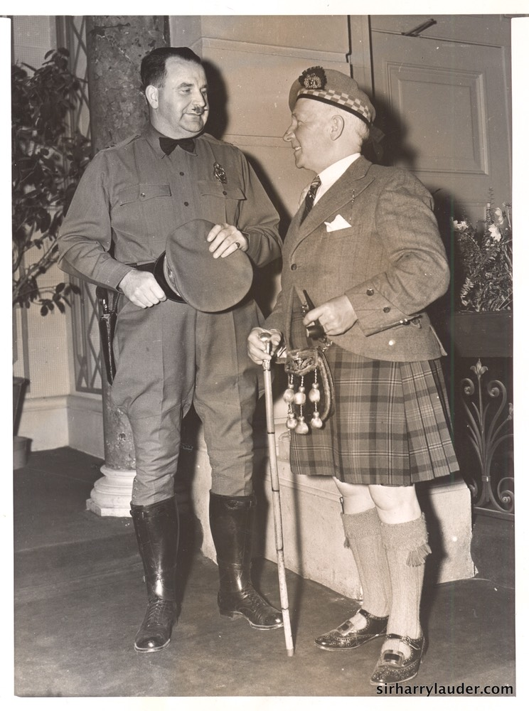 Sir Harry & Capt M L Vallance Hollywood Calif May 1937