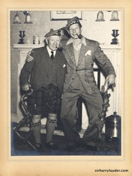 Sir Harry & Danny Kaye At Lauder Ha' Mounted Photo Undated