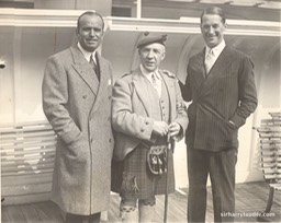 Sir Harry & Douglas Fairbanks & Maurice Chevalier On Mauretania -1 1930