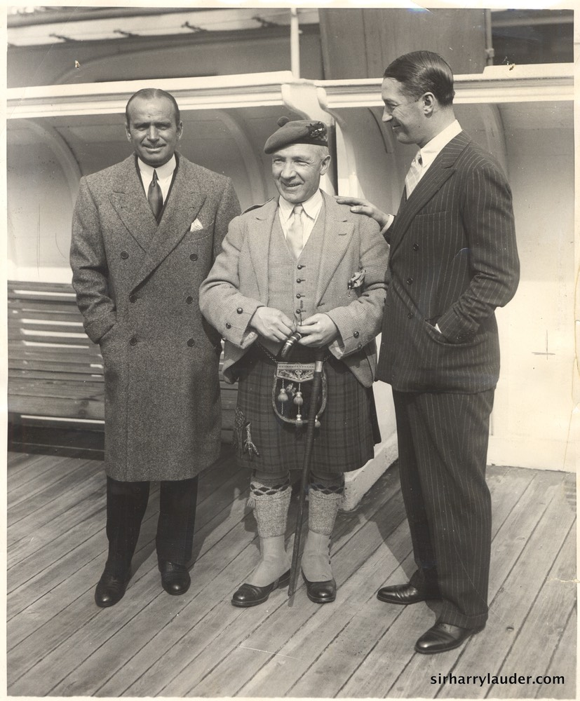 Sir Harry & Douglas Fairbanks & Maurice Chevalier On Mauretania -2 1930