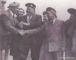 Sir Harry & Greta Lauder With Stan Laurel & Oliver Hardy With Wives