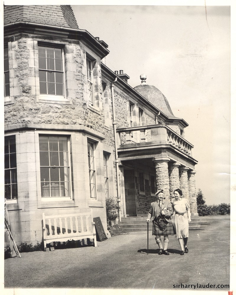 Sir Harry & Greta Walking At Lauder Ha' 1944