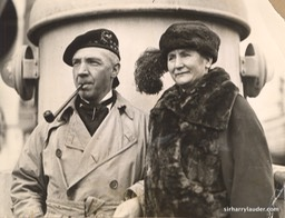 Sir Harry & Lady Lauder On Unknown Ship Verso Stamped Apr 21 1922