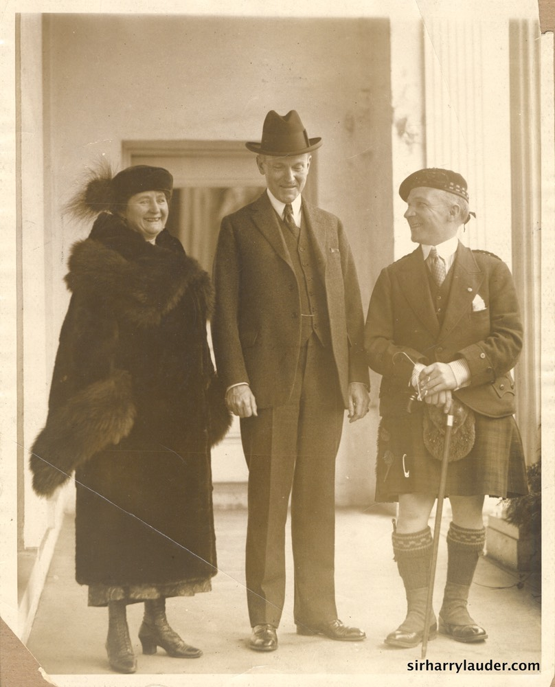 Sir Harry & Lady Lauder With President Coolidge Undated