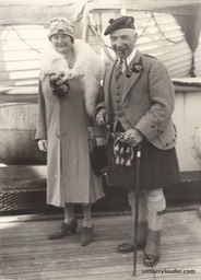 Sir Harry & Lady Lauder Acquitania -2 Oct 1926