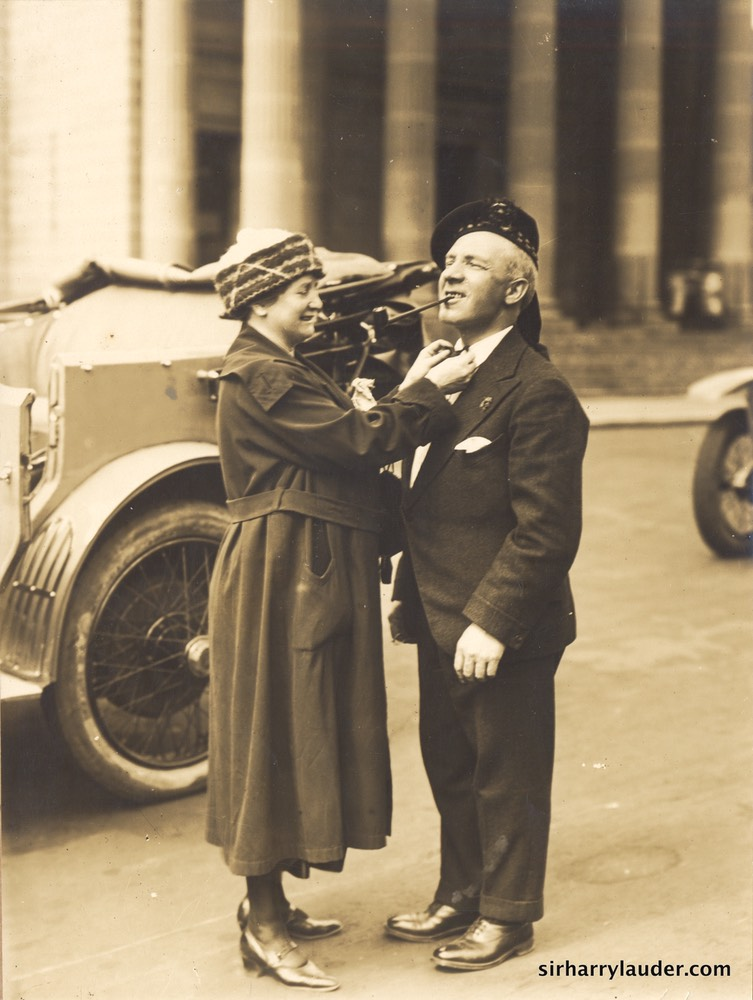 Sir Harry & Lady Lauder Fixing Tie Undated Verso FB Studios Sydney