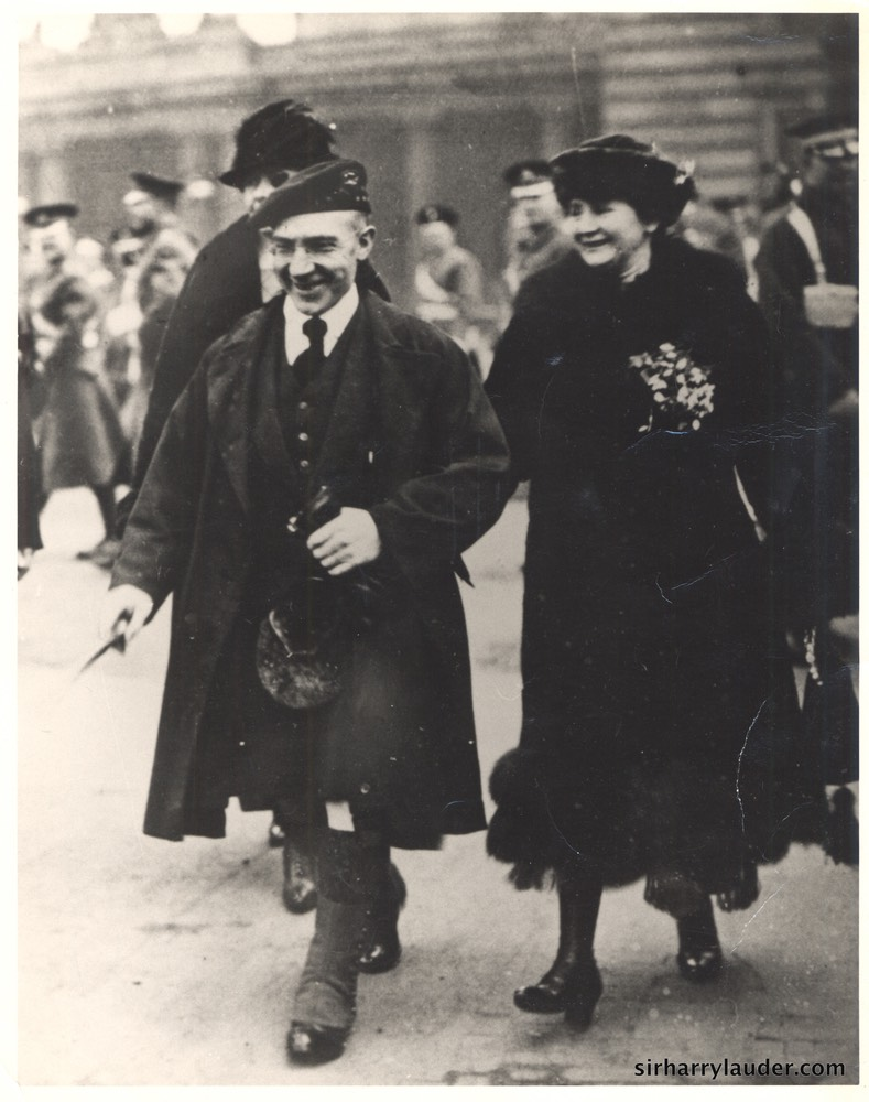 Sir Harry & Lady Lauder Photo Prob At Buckingham Palace Undated