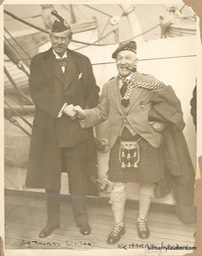 Sir Harry & Sir Thomas Lipton Aquitania Jan 1928 -3