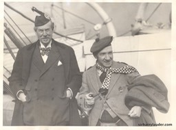 Sir Harry & Sir Thomas Lipton Aquitania Jan 1928 -1