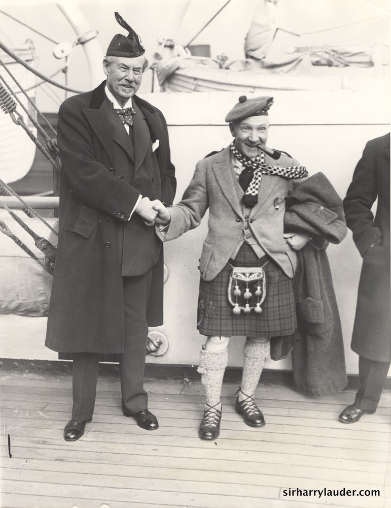 Sir Harry & Sir Thomas Lipton Aquitania Jan 1928 -2