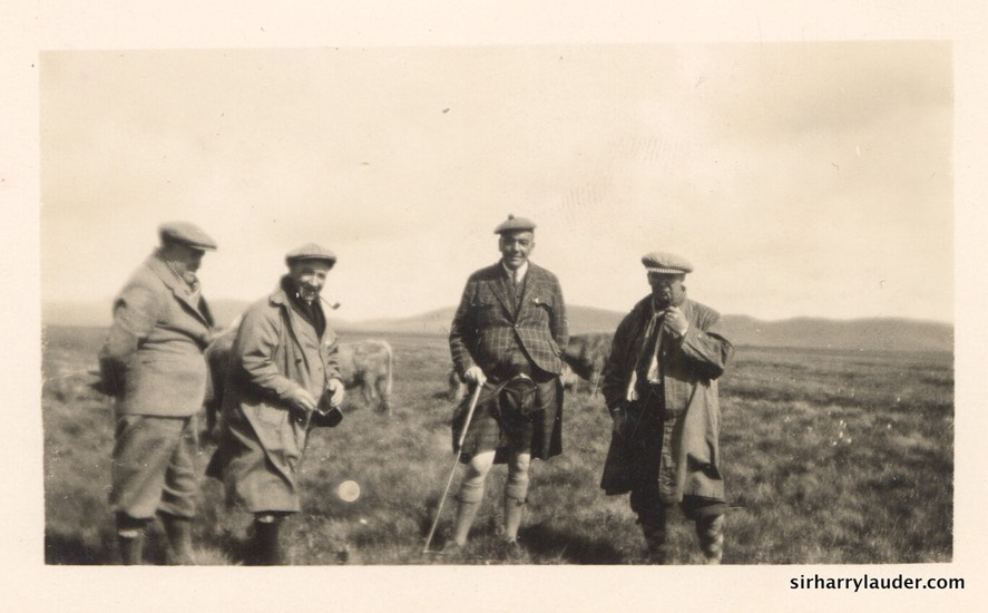 Sir Harry & Unidentified Others In Field Undated