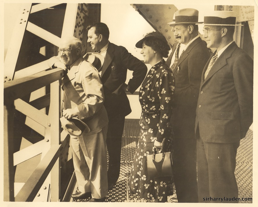 Sir Harry Greta Lauder & Others Verso New York 1937