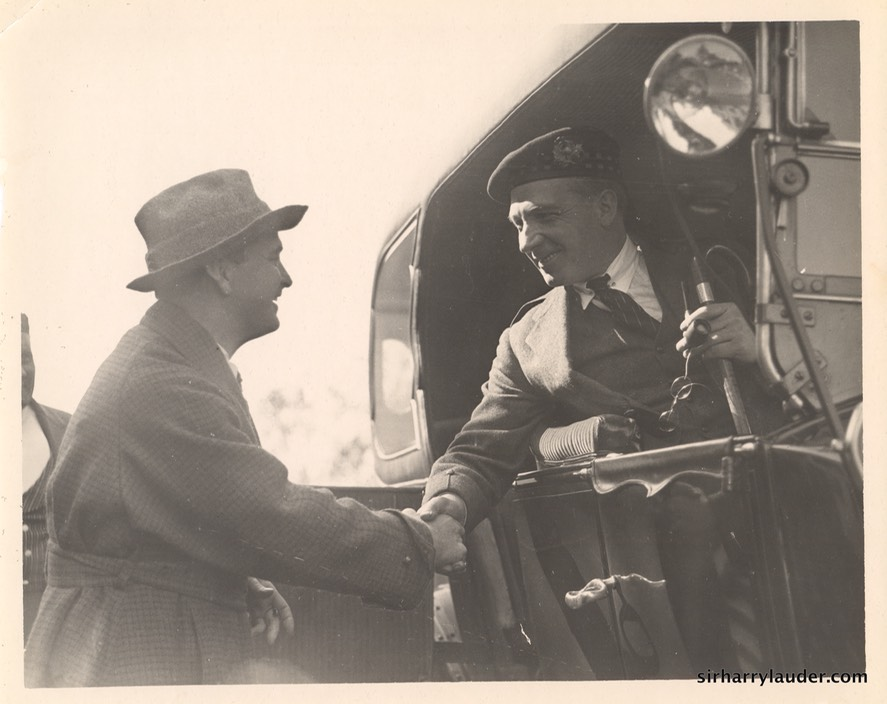 Sir Harry In Car With Thomas Ince Undated