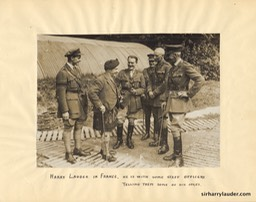 Sir Harry In France With Officers Photo Mounted On Paper Undated