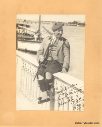 Sir Harry In Miami Mounted Photo Inscribed 1930