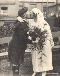 Sir Harry Lauder Niece Married Dated 1922