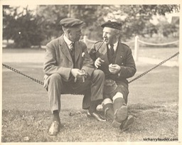 Sir Harry On Staten Island NY With Unidentified Man 1922