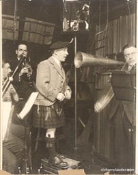 Sir Harry Recording Undated Verso Singing Down The Gramophone Trumpet