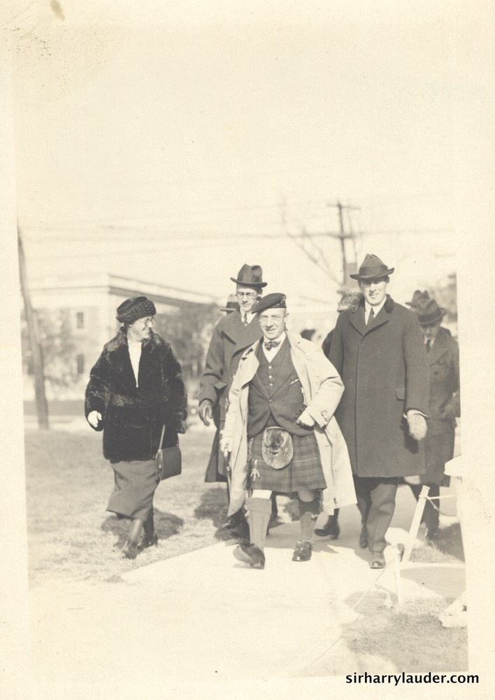 Sir Harry Walking with Group No Date
