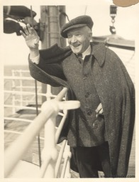 Sir Harry Waving On Ship Undated