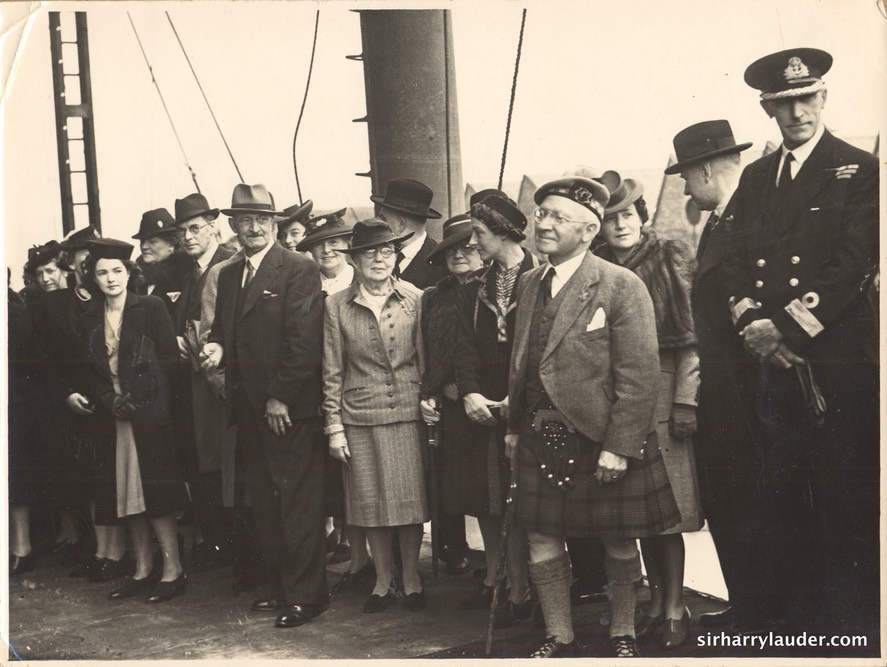 Sir Harry With Group On Ship Undated