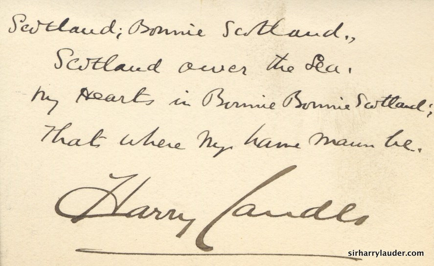 Small Card Inscribed With Verse Signed Undated